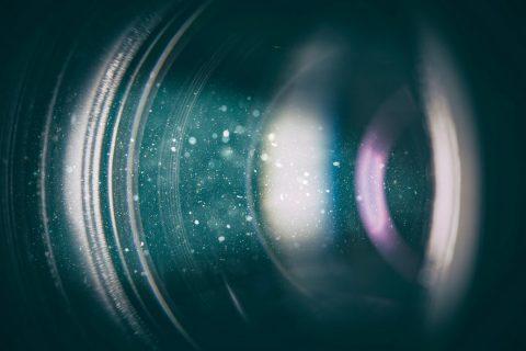 Lentille d'un vidéo projecteur